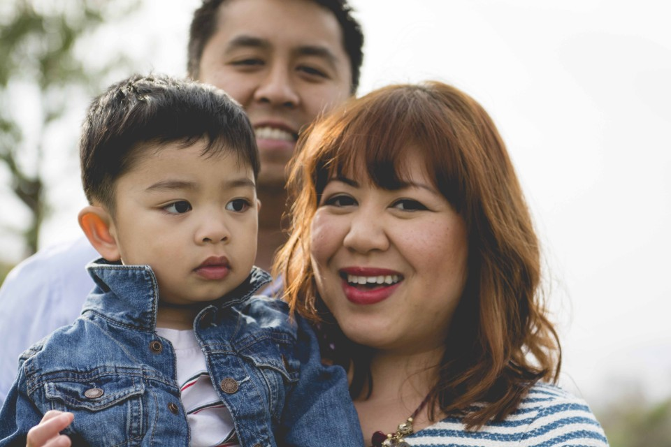 Family of Three with 2 year old