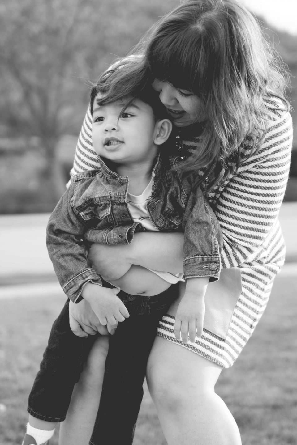 2 year old Boy with Mom