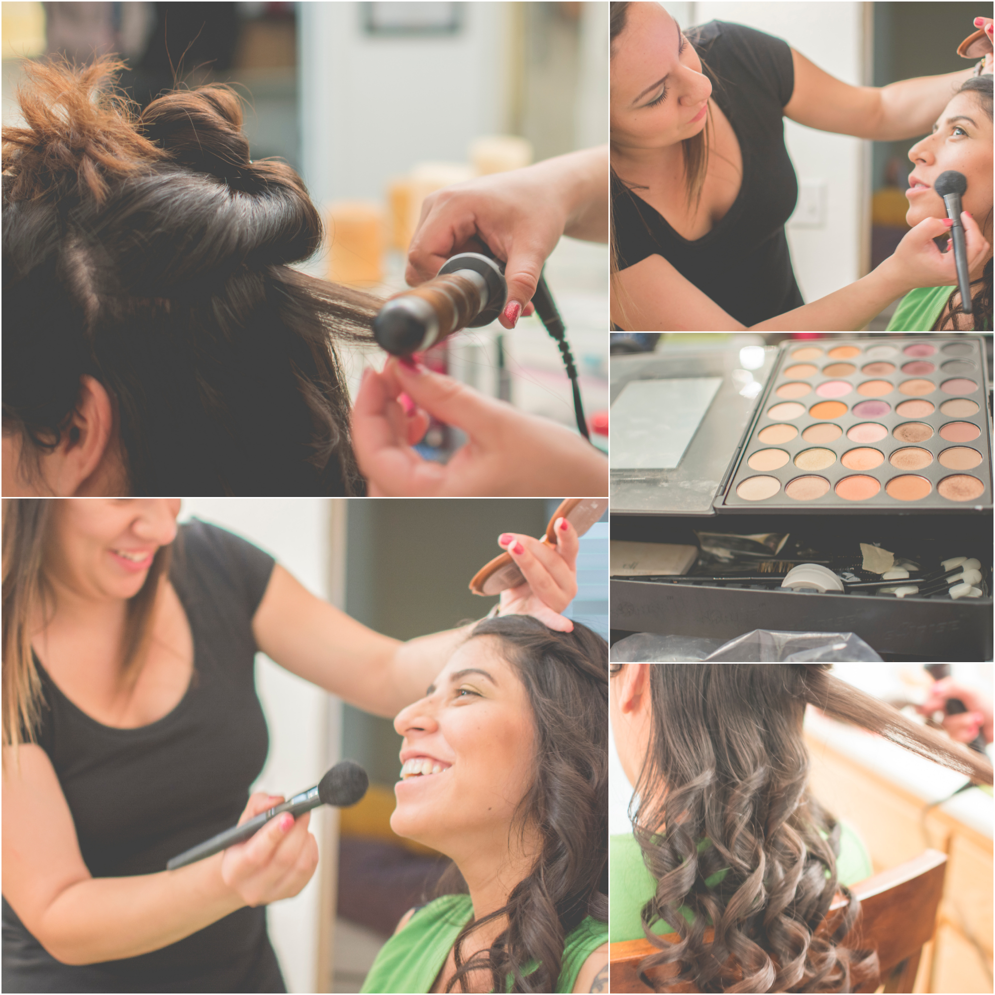 Collage of hair and make up
