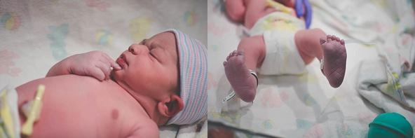 Birth Photography Newborn being examined