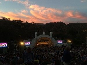 sunset over hollywood bowl los angeles