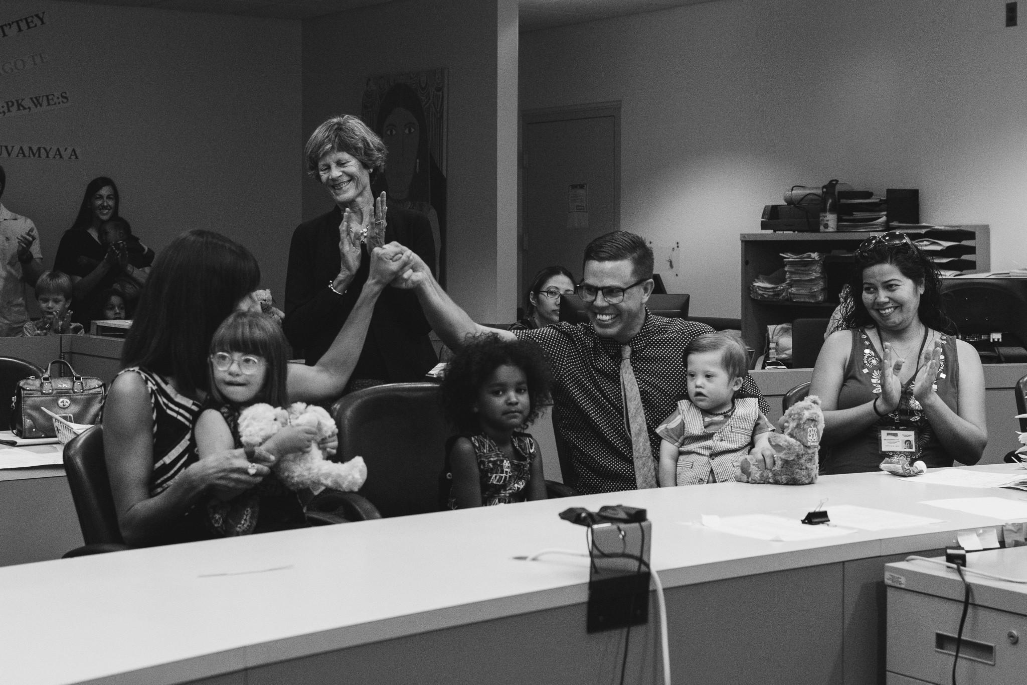 courthouse adoption documentary family photography