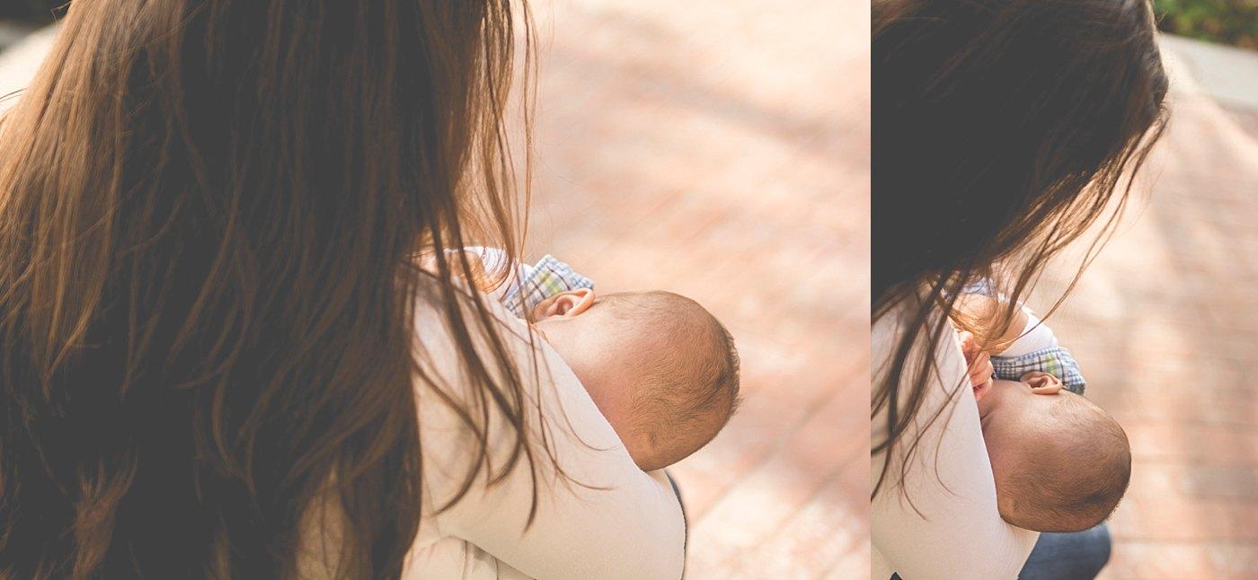 mom nursing baby in park redlands birth photography captured grace by erin