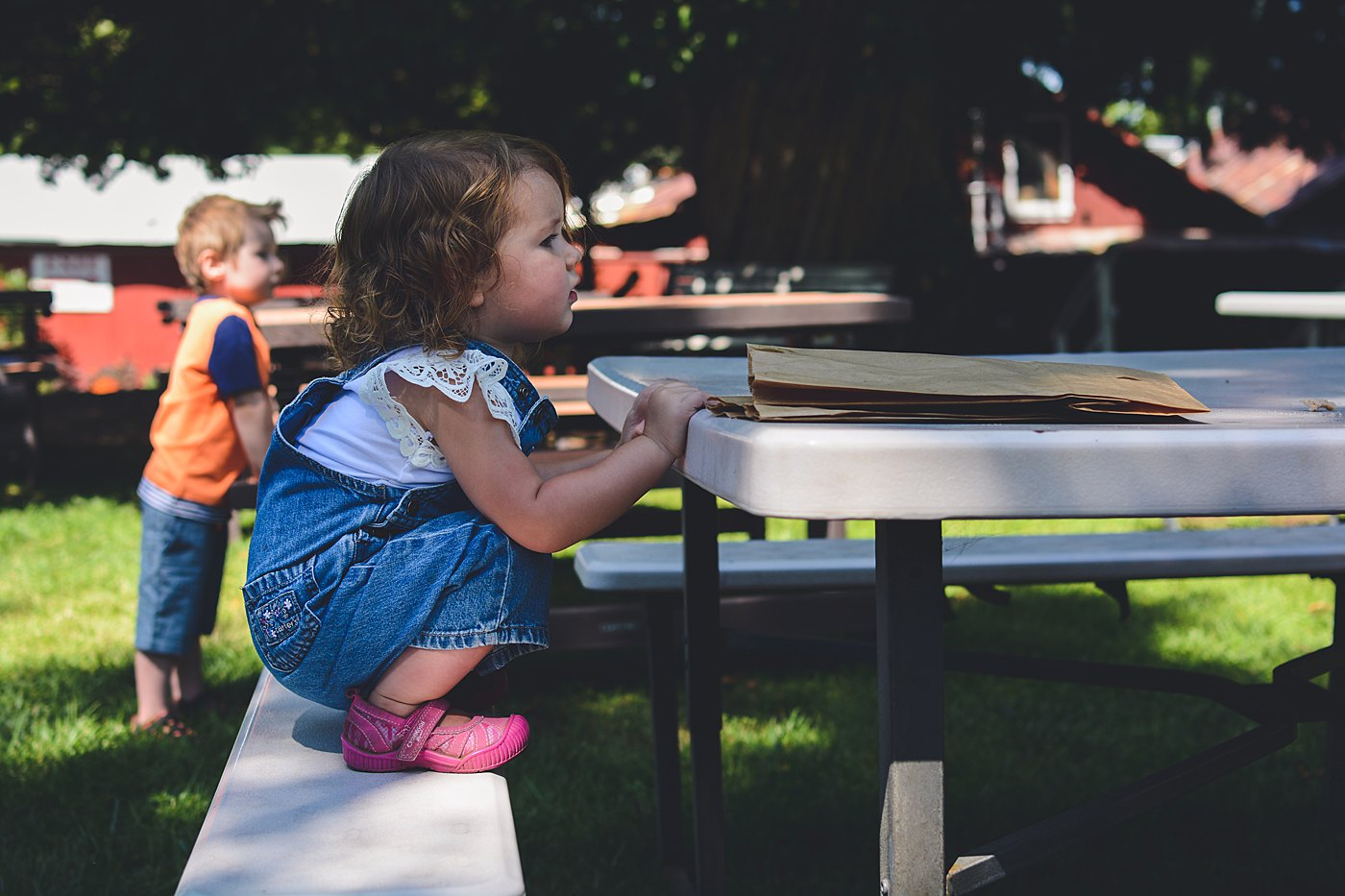 kids eating apple donuts snow line orchard oak glen captured grace by erin family photography