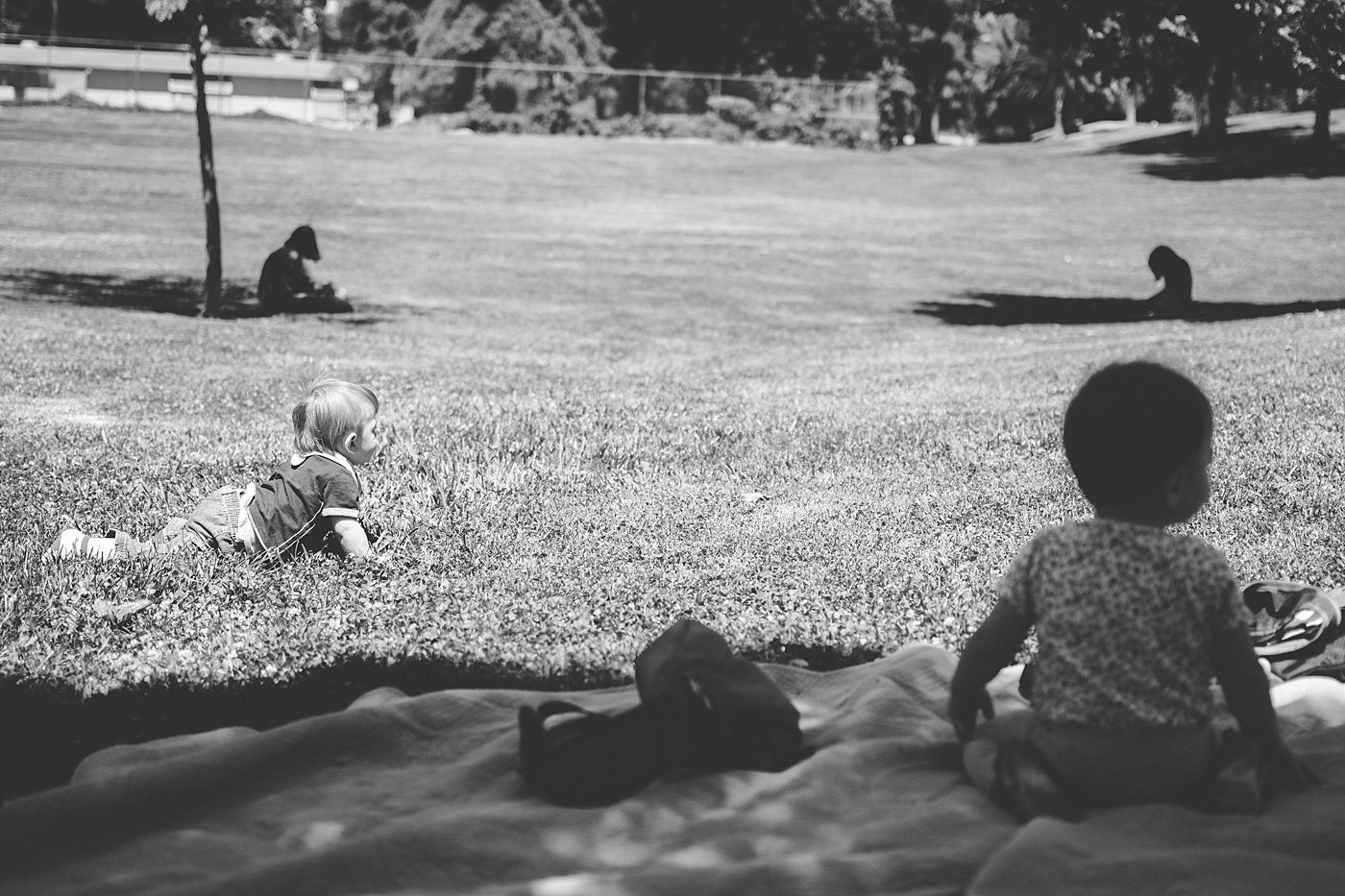 babies and kids sitting at ford park redlands captured grace by erin family photography