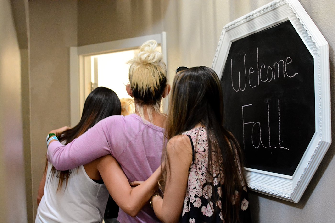 friends guide her to her room homecoming las vegas shooting victim Chelsea Romo Captured Grace by Erin