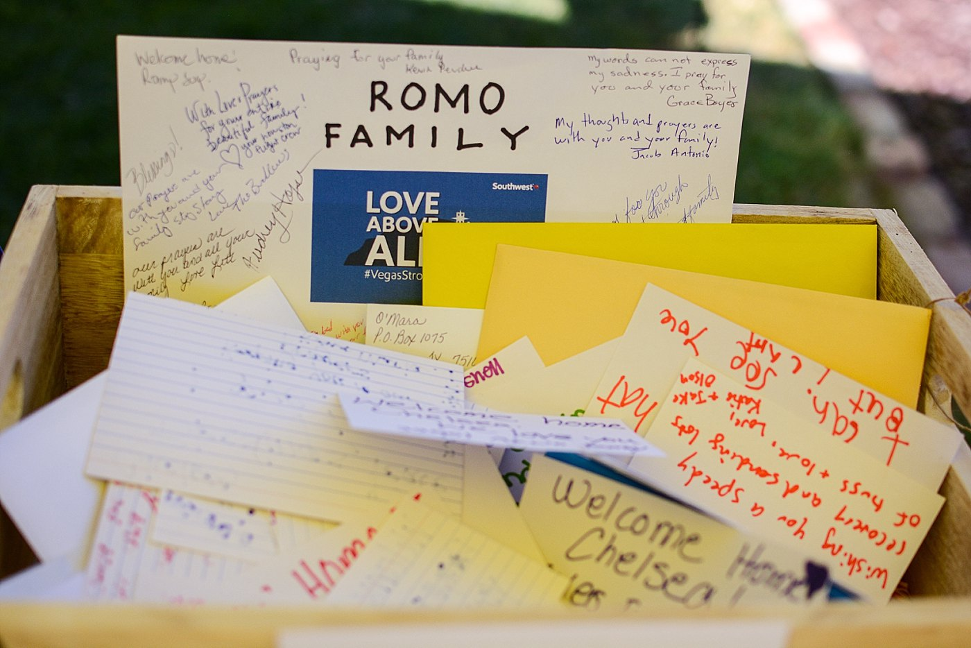 welcome home cards homecoming las vegas shooting victim Chelsea Romo Captured Grace by Erin