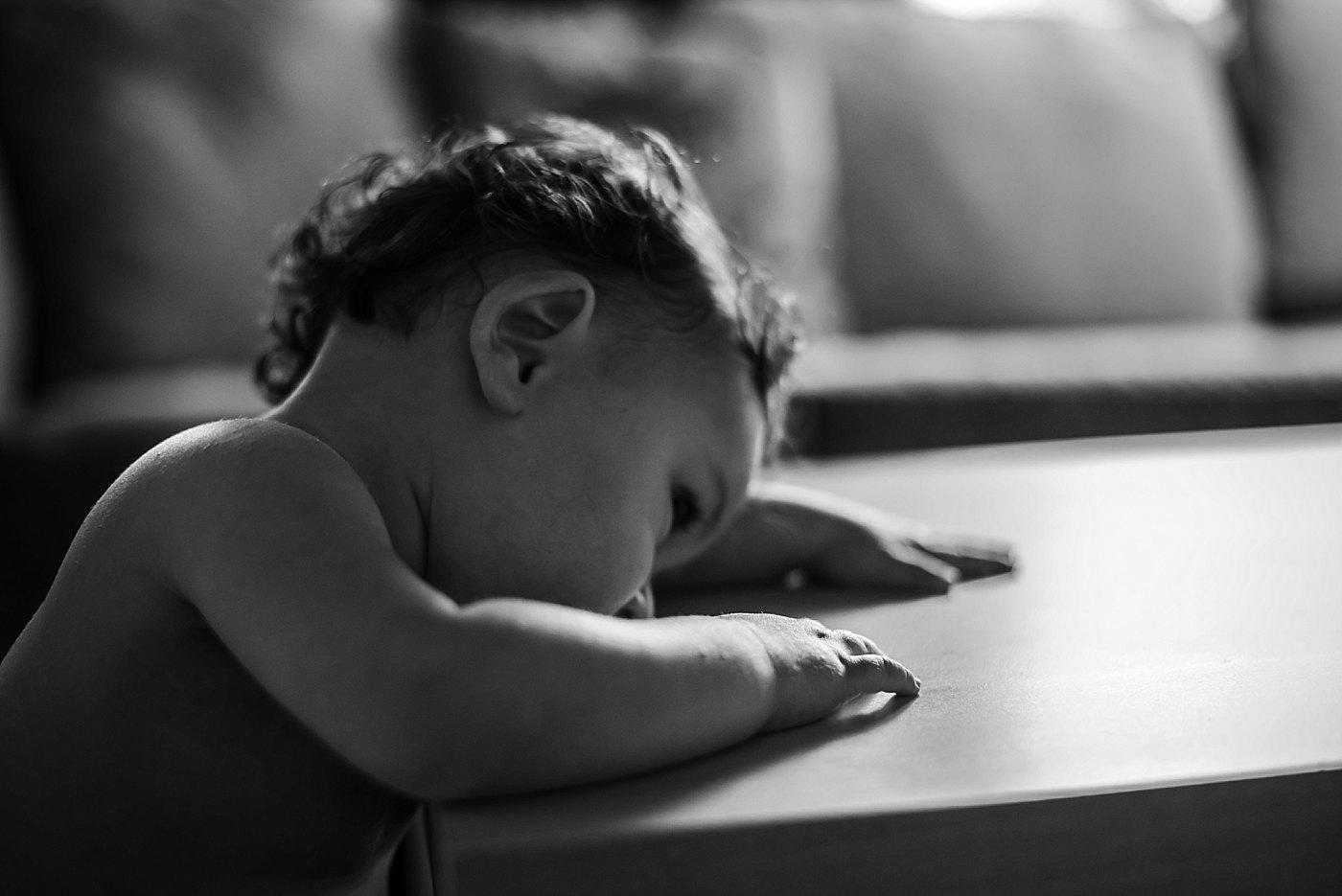 black and white portrait of toddler girl newport beach redlands family photograper