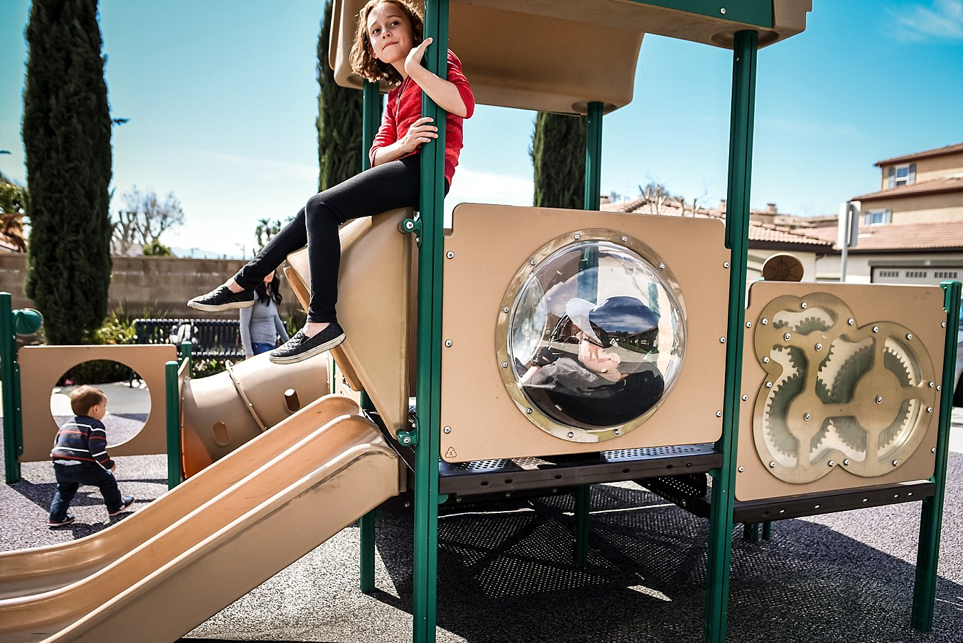 kids playing at park day in the life redlands family photography
