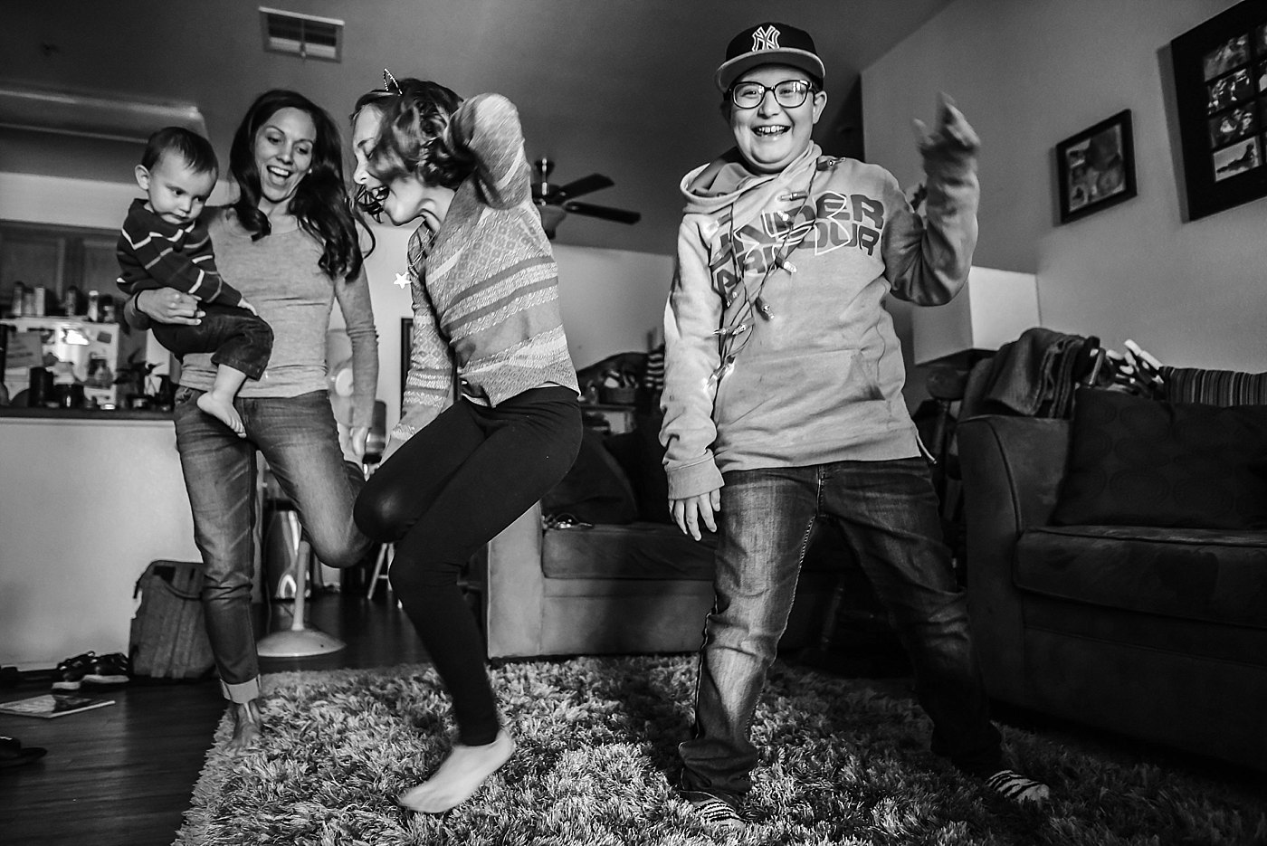 family dance party redlands family photography