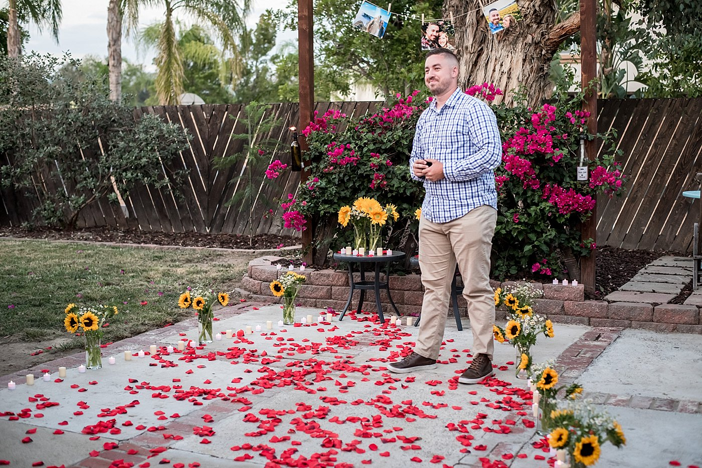 man stands waiting to propose redlands family photographer