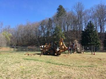 removing old playground equipment