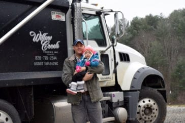 Willow Creek Trucks Jarrod and Daughter with truck