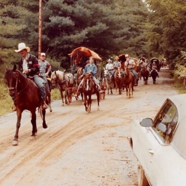 Wagon Train in Sandy Mush