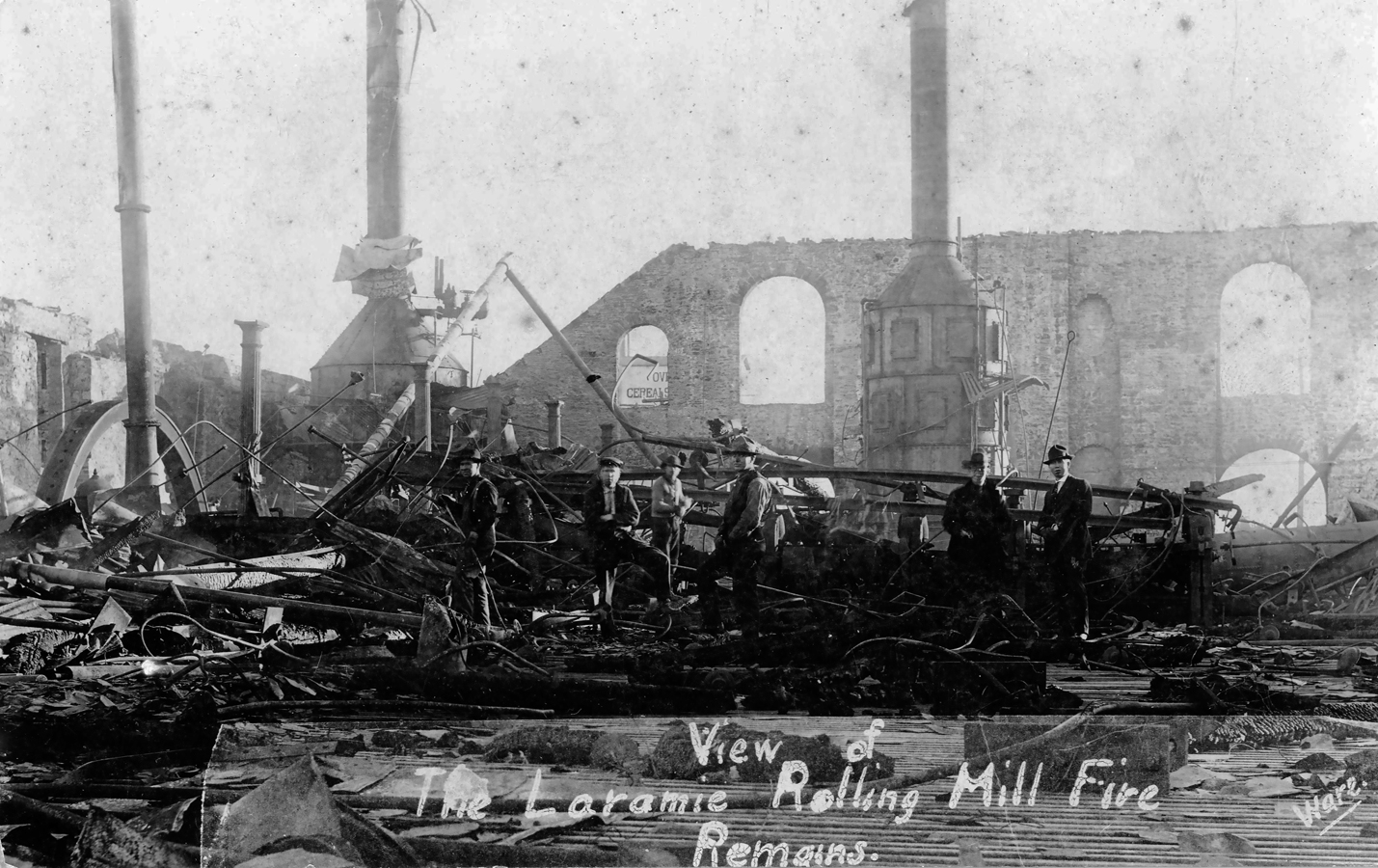 """Remains from the Rolling Mills Fire. What was supposed to make Laramie the """"Pittsburgh of the West"""" went up in smoke and was never rebuilt."""