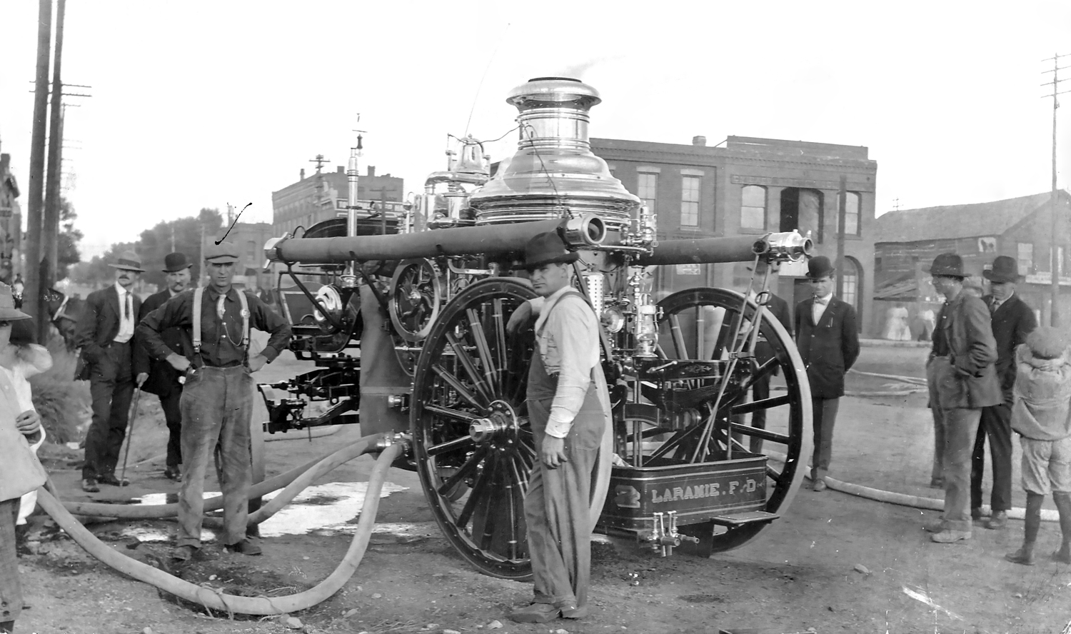Ed Ferber helping with the new Steam engine around 1900 (right)
