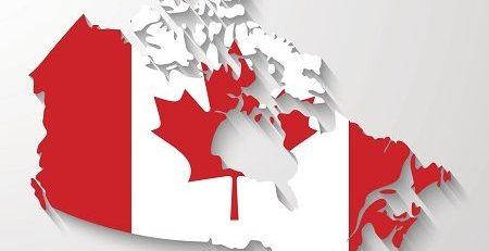 Canada map with shadow effect presentation