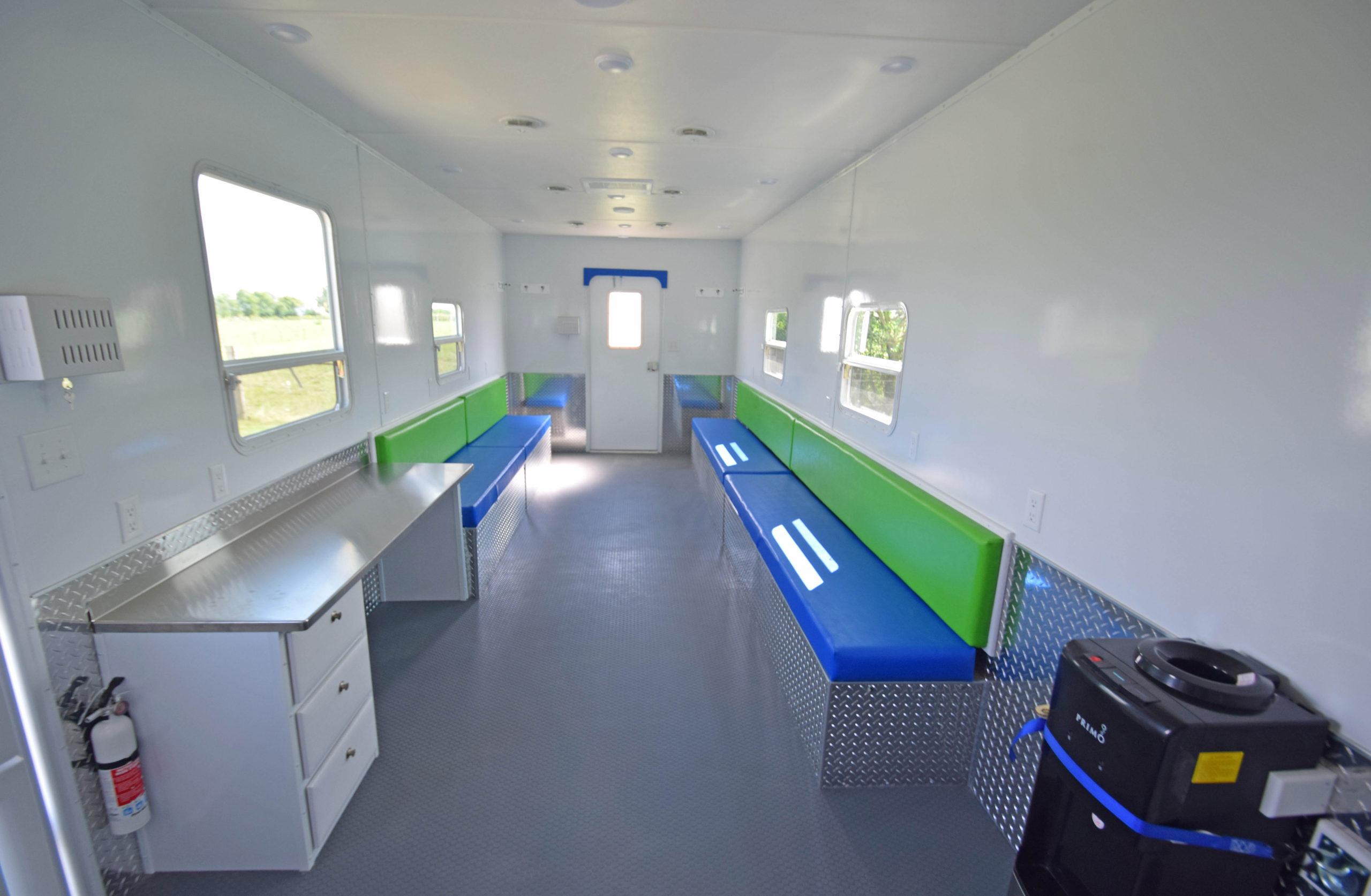 cool down trailer interior