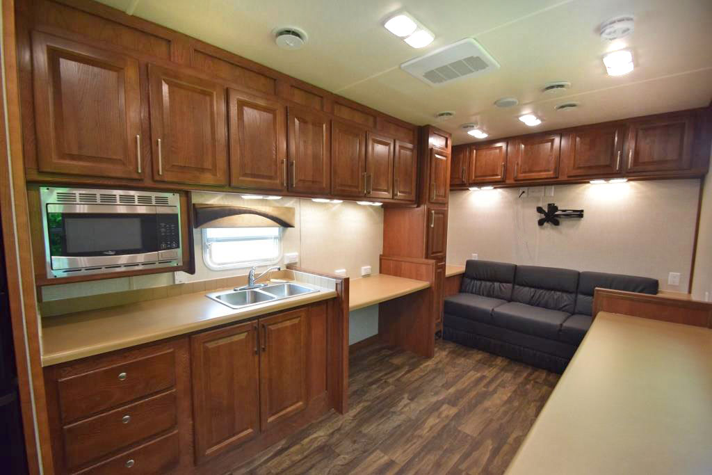 oil field trailers living room