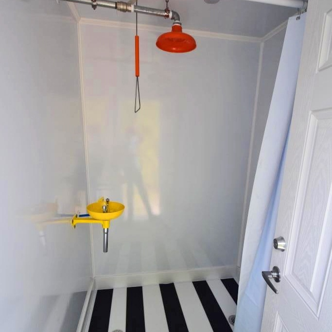 safety shower trailer stall