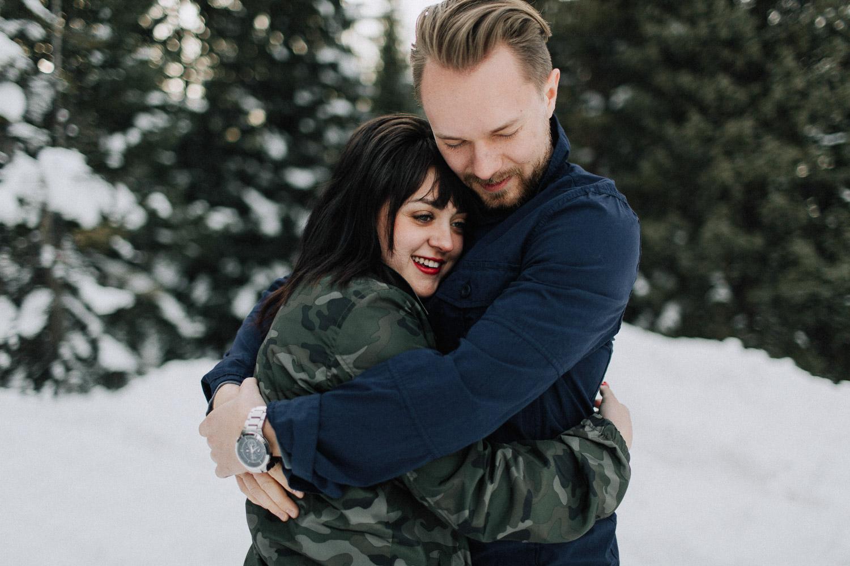 Image of couple hug each other