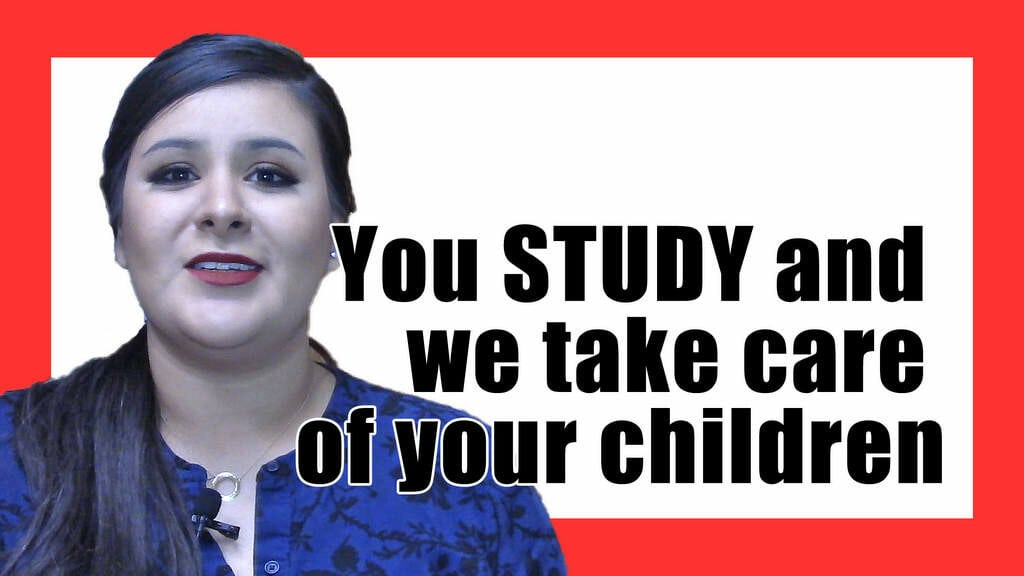 Childcare AT SCHOOL (so you can study)