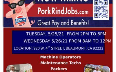 Rudolph Foods Onsite Job Fair