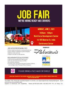 Upcoming Job Fair-Robertson's Ready Mix