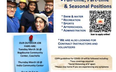 Upcoming Job Fair Desert Recreation District