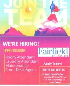 fairfield open positions
