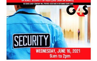Reminder G4S Virtual Hiring Event