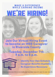 Virtual Hiring Event being hosted by DPSS/Public Authority