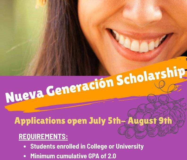 California Farmworker Foundation's Nueva Generación Scholarship