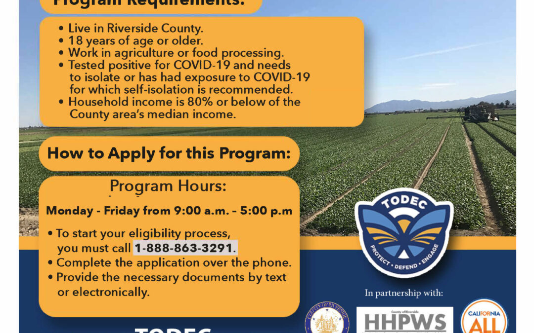 Housing for the Harvest Program – Farmworker Financial Assistance