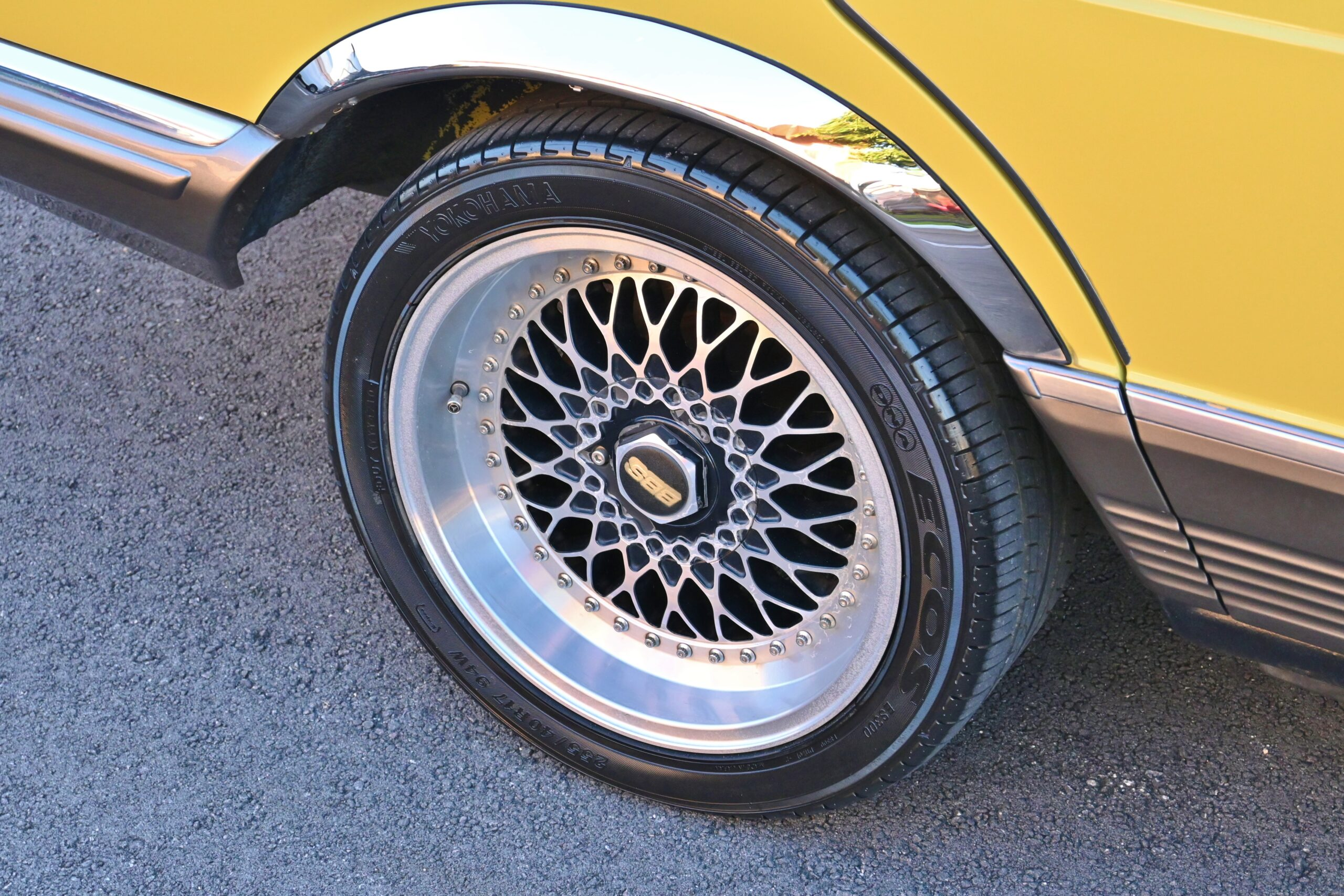 1981 Mercedes-Benz S-Class Euro 280 SE Lorinser W126 in rare Mimosa Yellow -Low Miles – BBS Wheels – Lorinser Exhaust/Suspension