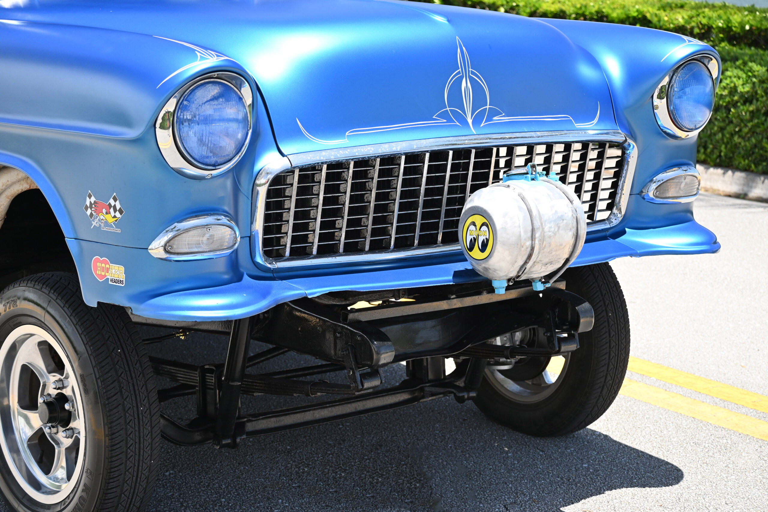 """1955 Chevrolet 210 Old school """"GASSER'' 327 cubic inch and 4 speed Muncie transmission and 12 bolt posi diff – front disk brakes with corvette master cylinder"""