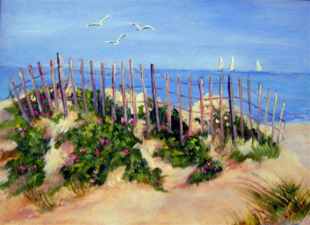 Harwich Port Dunes Acrylic ~ 9 x 12 ~ $150