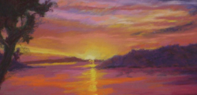Sumer Sunset - pastel