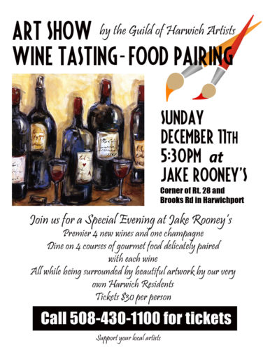 Art Show Wine Tasting-Food Pairing at Jake Rooney's