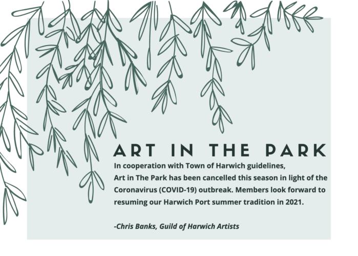 2020 Art in The Park Season Cancelled