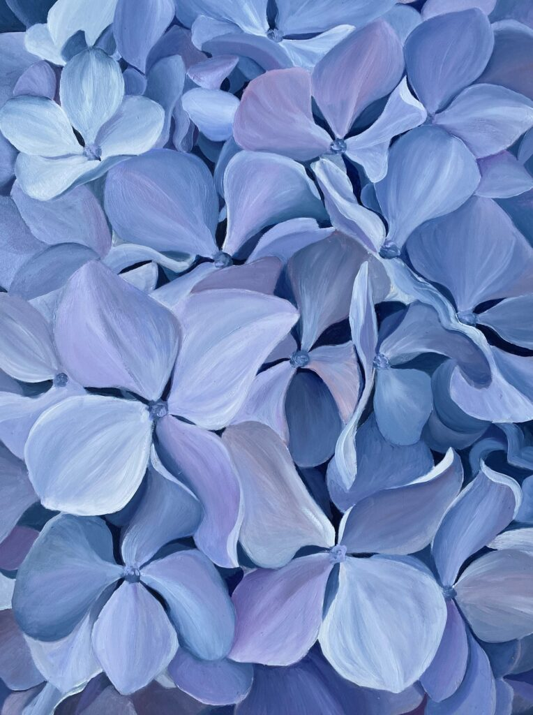 Karen Shortsleeve recently sold Blue Hydrangeas through the Copley Society of Art in Boston.