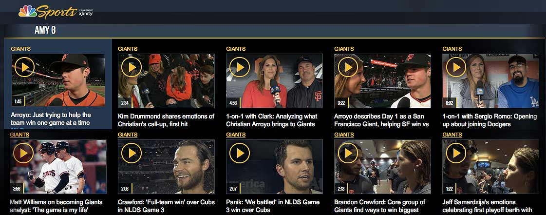 NBC Sports Video Interviews by Amy G