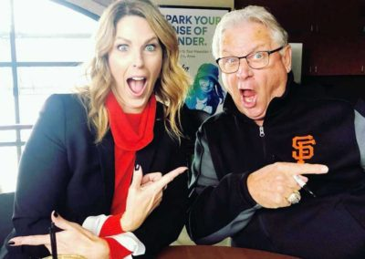 Amy G with play-by-play Duane Kuiper