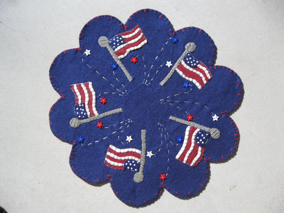 Stars and Stripes Penny Rug