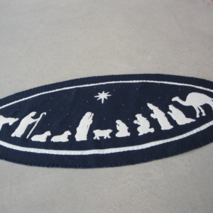 Christmas Nativity Penny Rug