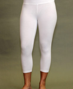 Organic Cotton Crop Yoga Legging - Kundalini White