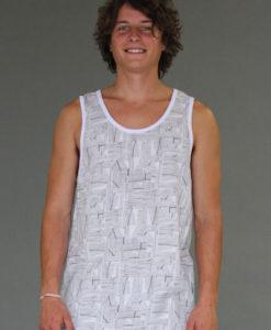 Men's Printed Yoga Tank - Kundalini White