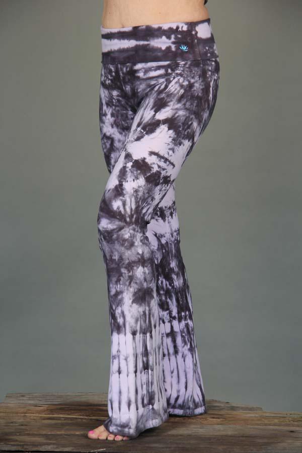 Organic Cotton Foldover Waist Yoga Pant - Rose Quartz Tie-dye by Blue Lotus Yogawear.