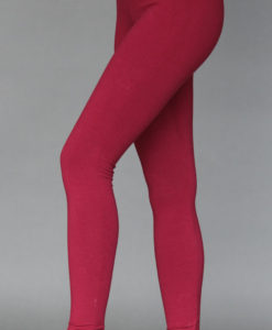 Organic Cotton Yoga Legging - Wine