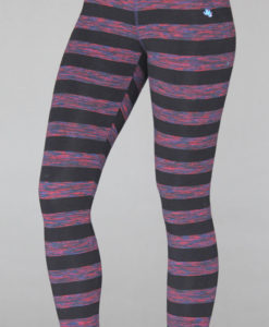 Variegated Stripe Cotton Lycra Yoga Legging by Blue Lotus Yogawear